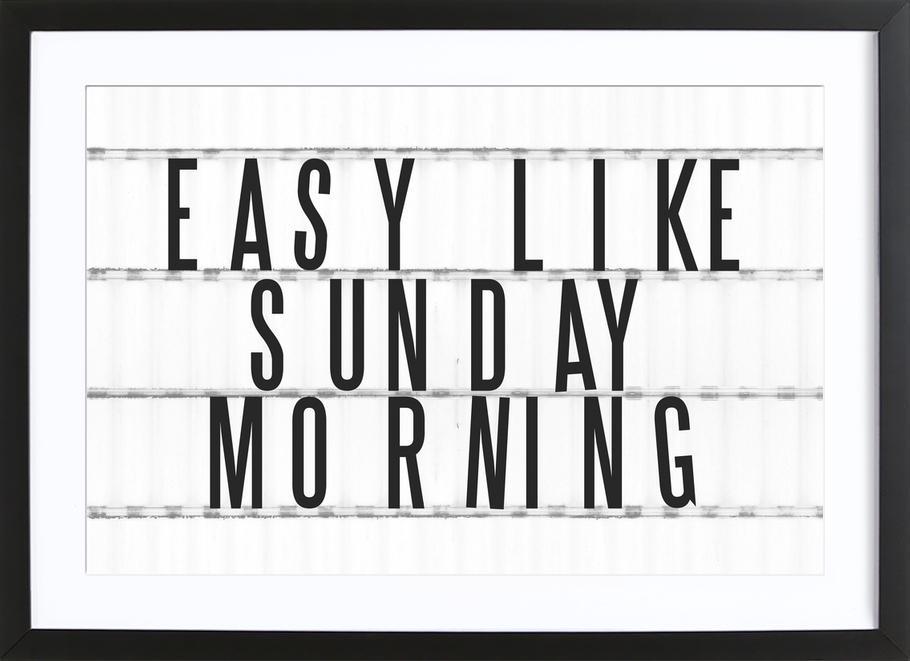 Sunday Morning ingelijste print