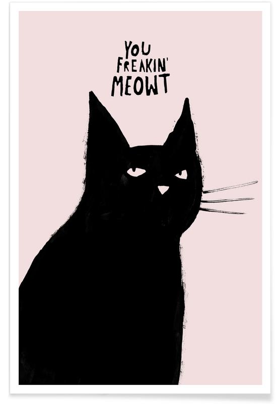 Cats, Funny, Freaking Poster