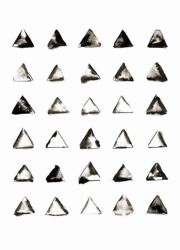 Triangles canvas doek