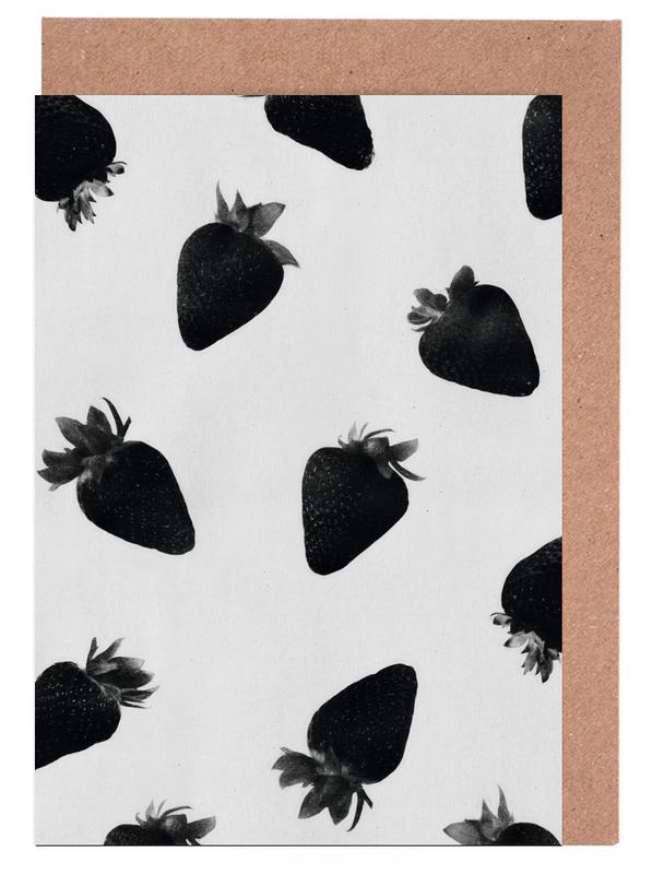 Black Strawberries -Grußkarten-Set