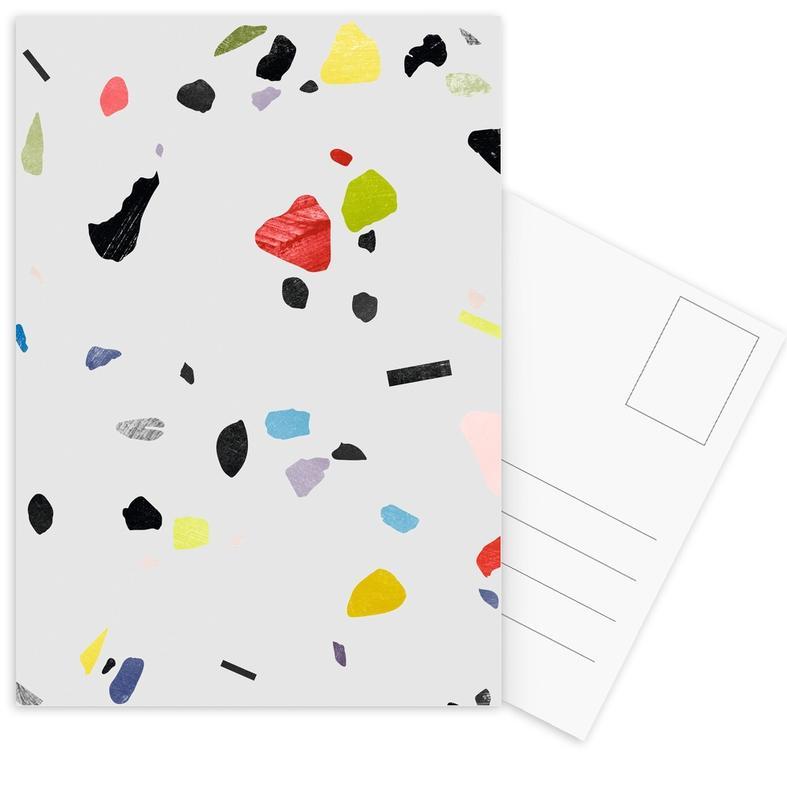 Muster, Painted terrazzo 1 -Postkartenset