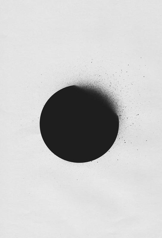 Black 01 tableau en verre