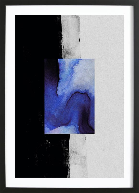 Blue -Bild mit Holzrahmen