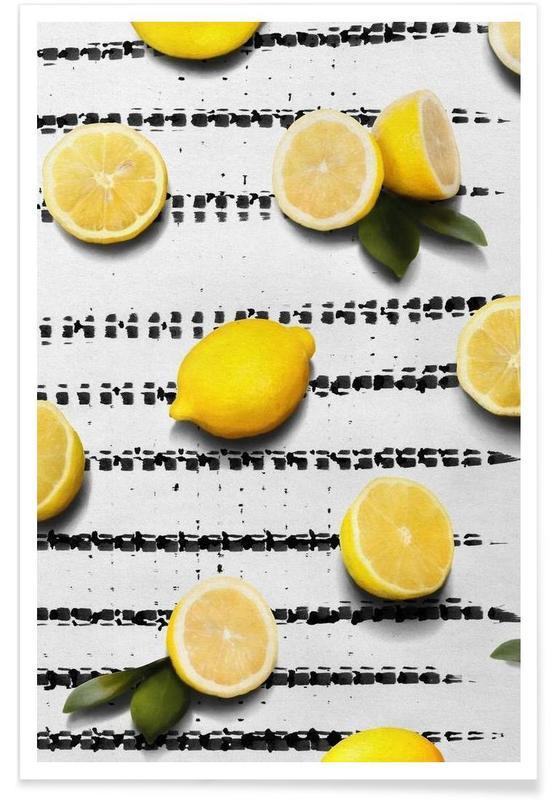 Zitronen, Fruit 4 -Poster