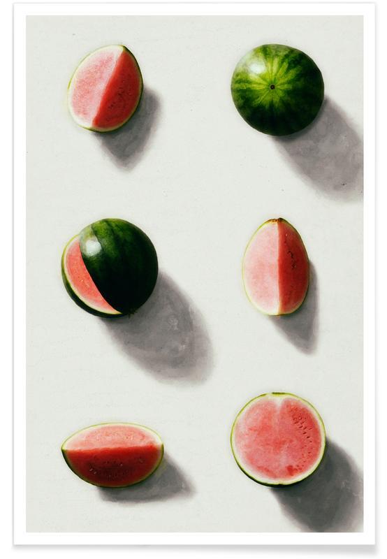 Wassermelonen, Fruit 14 -Poster