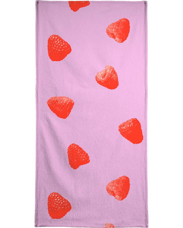 Raspberry Heaven Beach Towel