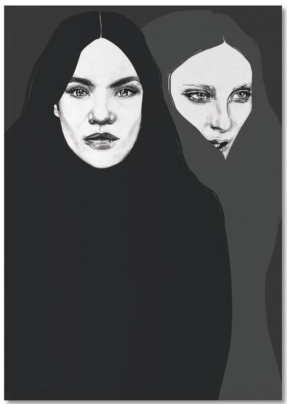 Zwart en wit, Portretten, Friends Notebook