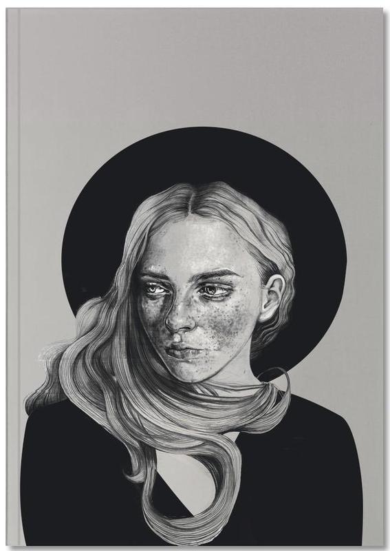 Zwart en wit, Portretten, Girl With Hat Notebook