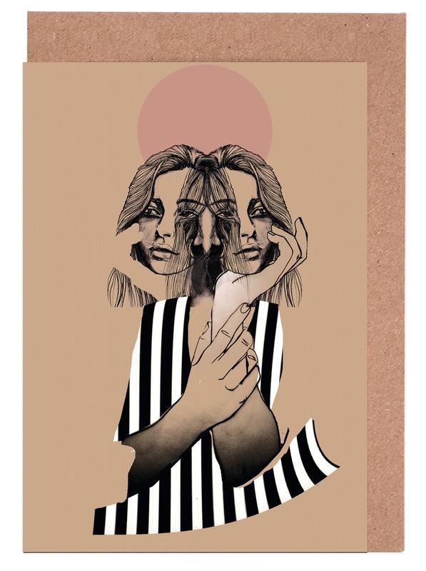 Stripes 1 Greeting Card Set