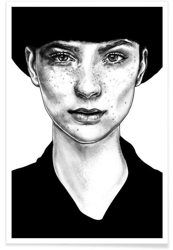 Black & White, Portraits, Nico R. Poster