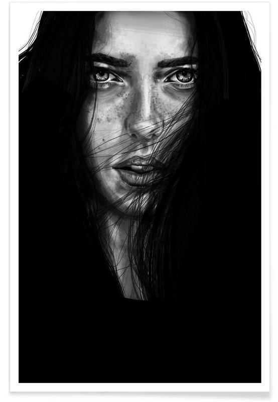 Schwarz & Weiß, Porträts, Dark Mary -Poster