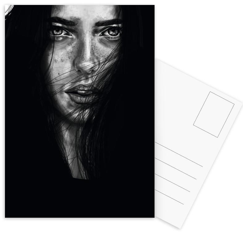 Black & White, Portraits, Dark Mary Postcard Set