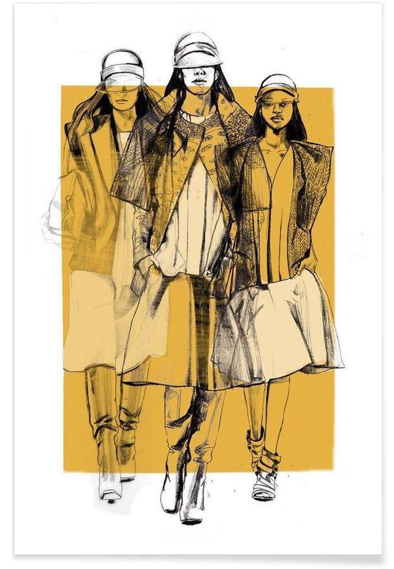Illustrations de mode, Balenciaga affiche