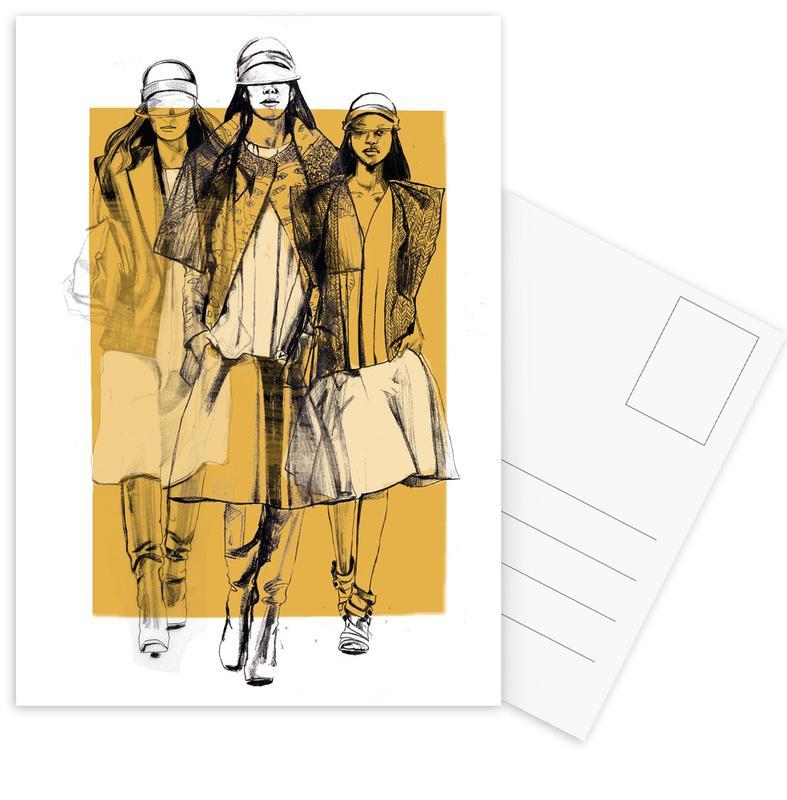 Fashion Illustrations, Balenciaga Postcard Set