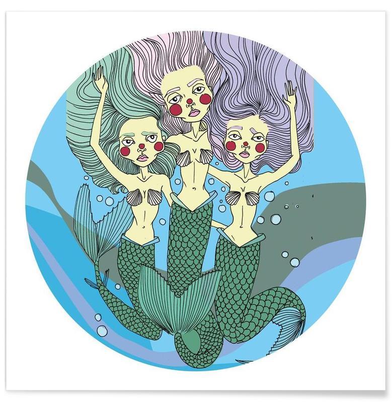 , Nessie Mermaids Poster