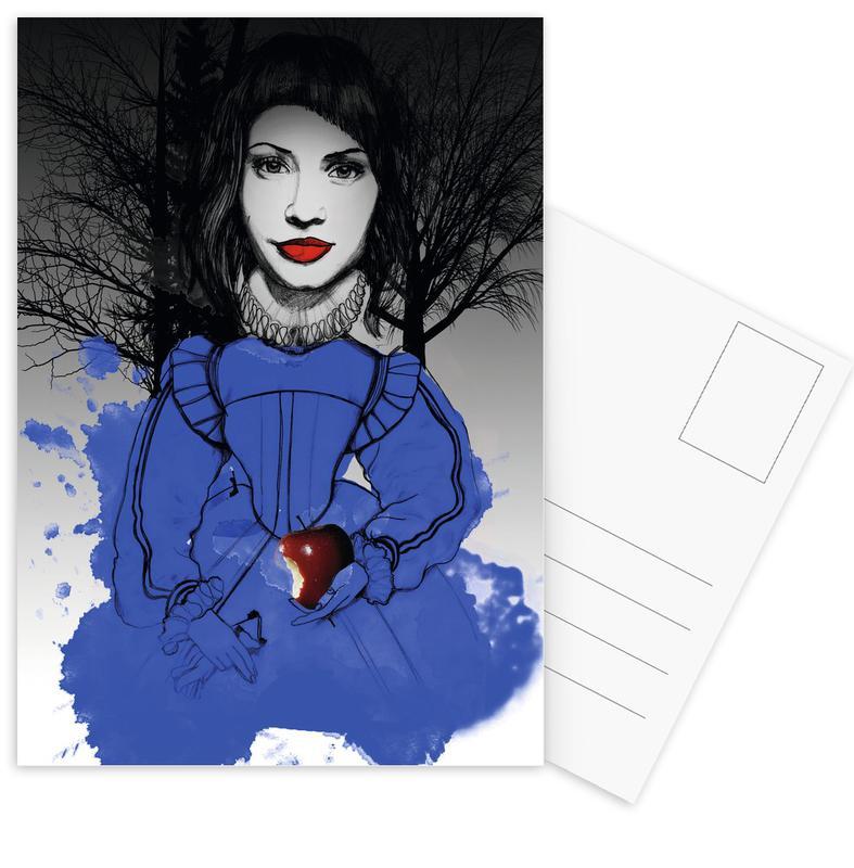 , Fairy Tale Blue Postcard Set