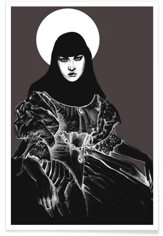 Schwarz & Weiß, Duchesse (Vamp) -Poster