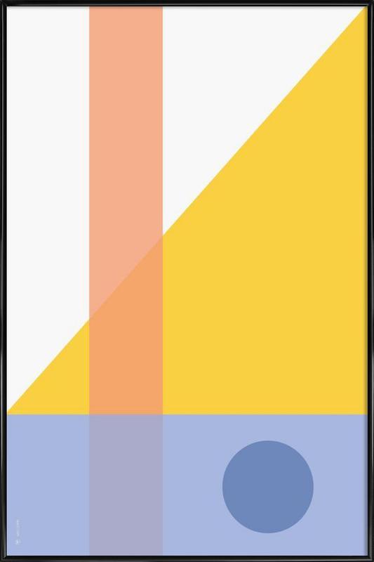 Geo Comp Framed Poster