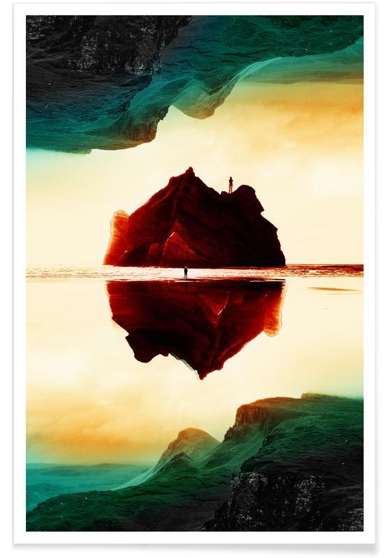 Abstracte landschappen, Isolation Island poster