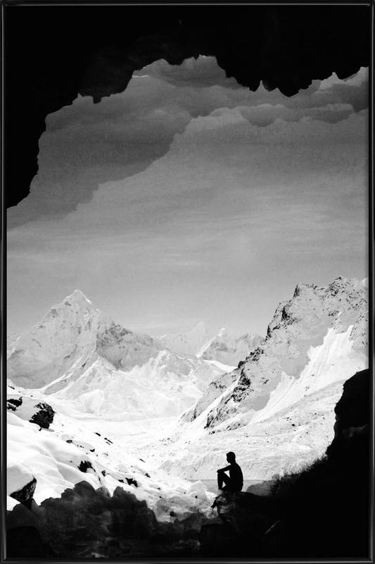 Snowy Isolation affiche encadrée
