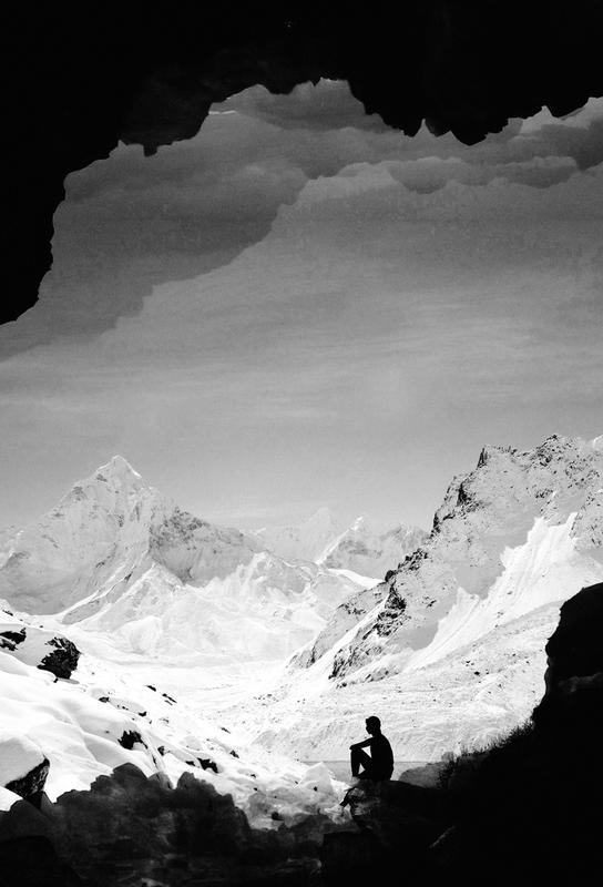 Snowy Isolation Impression sur alu-Dibond