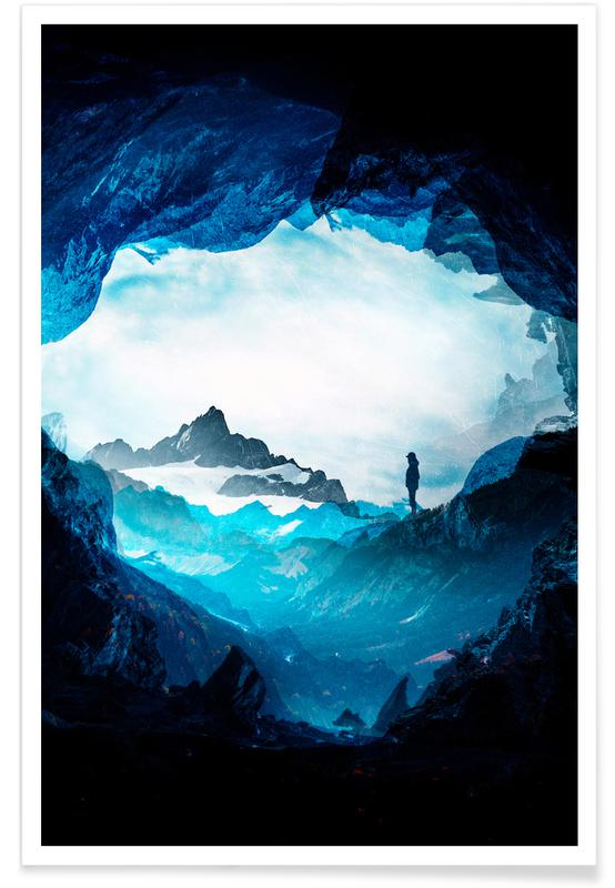 Blue Misty Mountains -Poster