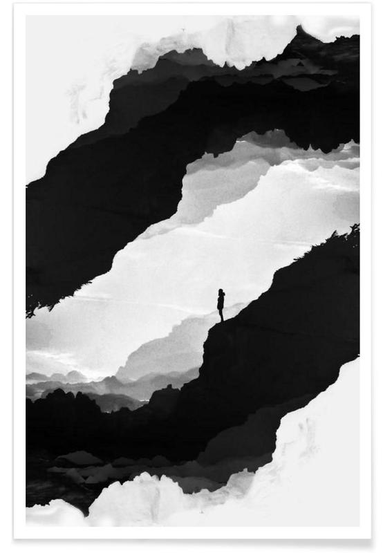 Abstrakte Landschaften, Schwarz & Weiß, White Isolation -Poster