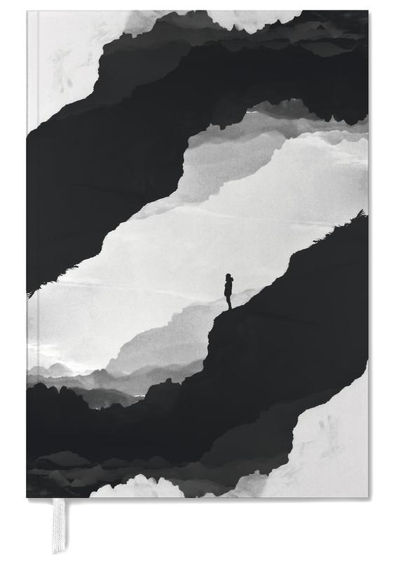 Abstract Landscapes, Black & White, White Isolation Personal Planner
