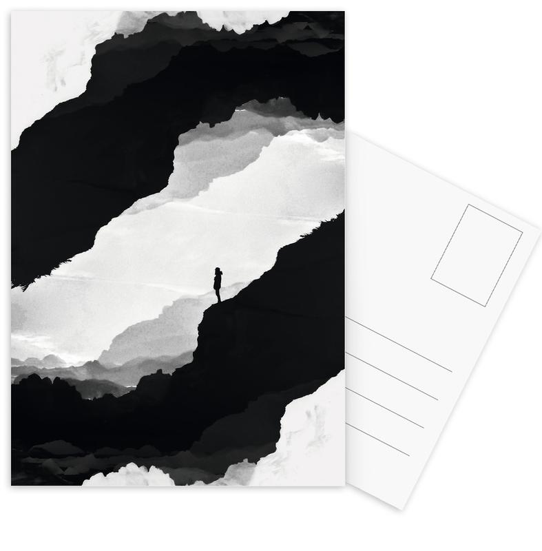 White Isolation Postcard Set