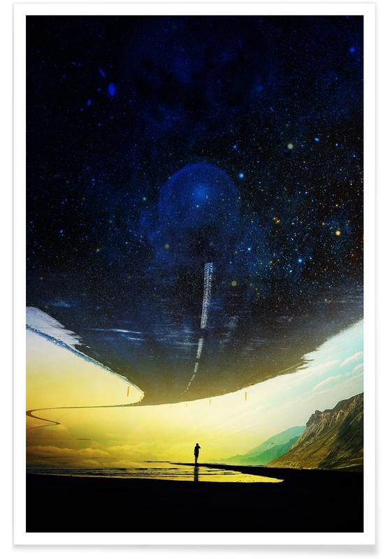 Abstrakte Landschaften, I'm Living -Poster