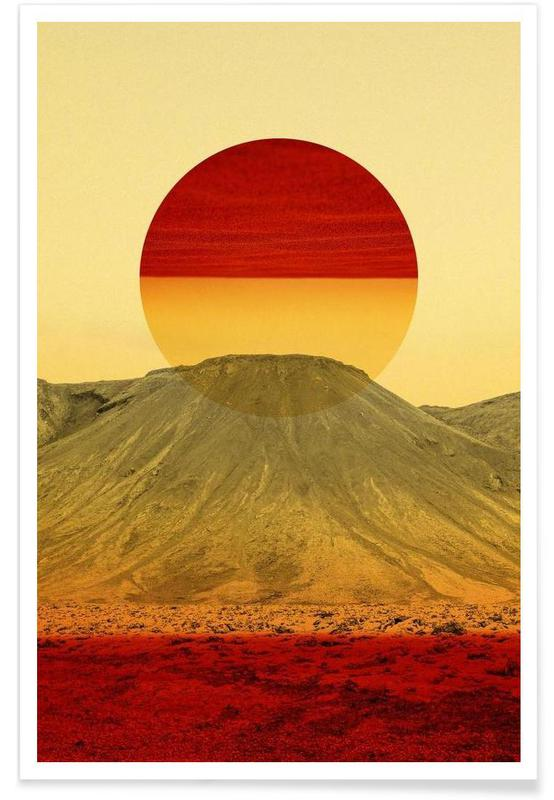 Abstrakte Landschaften, Warm abstraction -Poster