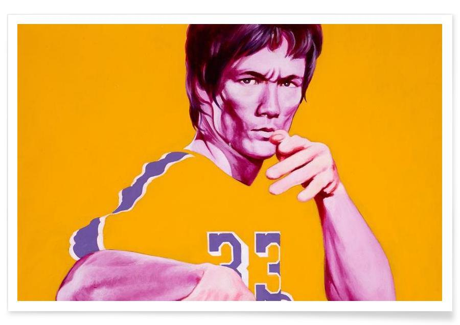 Bruce Lee, Legends in Yellow Poster