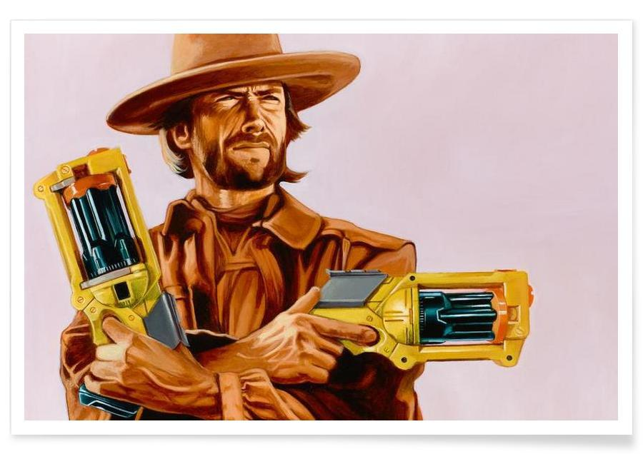 Clint Eastwood, Pop Art, You Gonna Pull Those Pistols Or Whistle Dixie -Poster