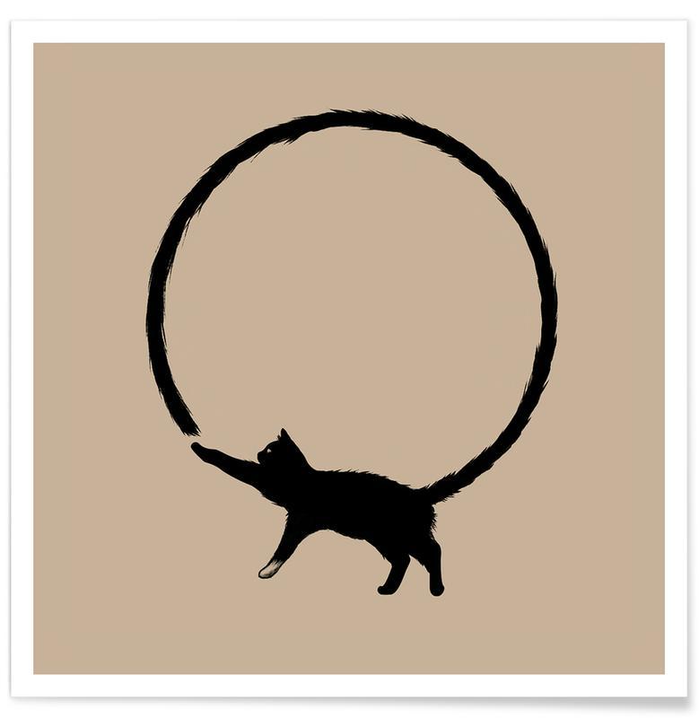 Art pour enfants, Humour, Chats, Cat Circle affiche