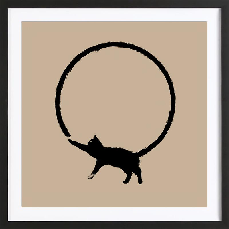 Cat Circle Framed Print