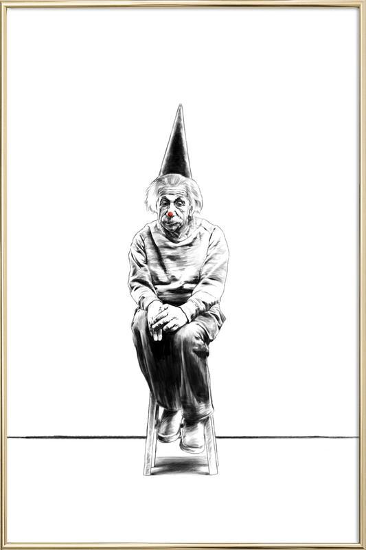 Einstein affiche sous cadre en aluminium