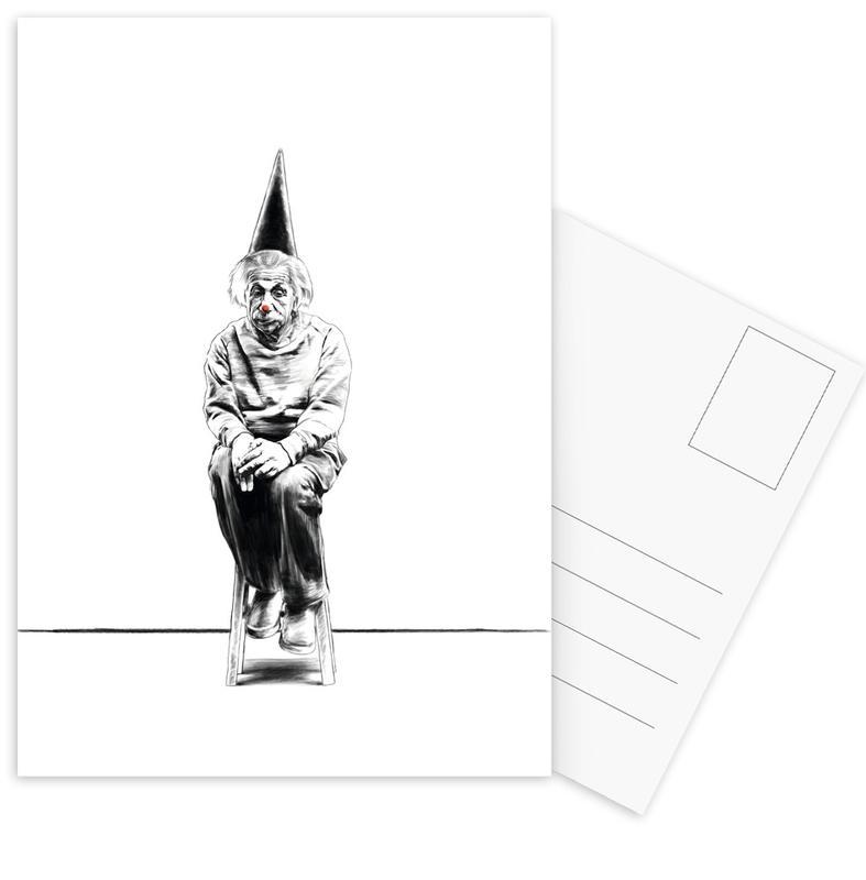 Zwart en wit, Grappig, Einstein ansichtkaartenset