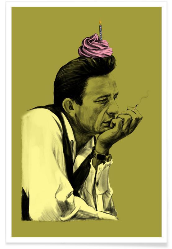 Geburtstage, Johnny Cash, Lustig, Hurt -Poster