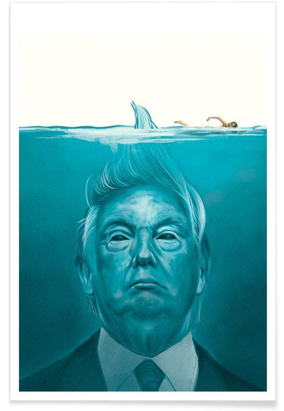 Personnages politiques, Humour, Films, Trump Flat Swimmer affiche