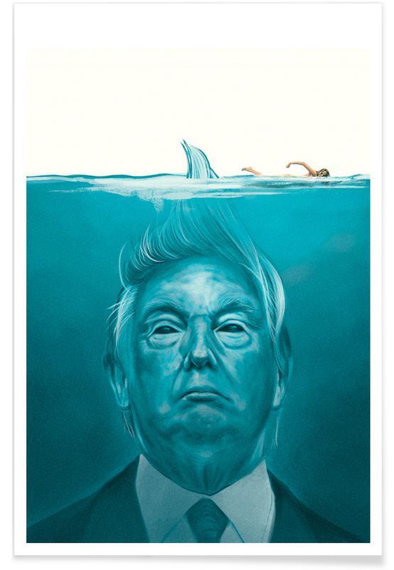 Rolig, Politiska siffror, Filmer, Trump Flat Swimmer Poster