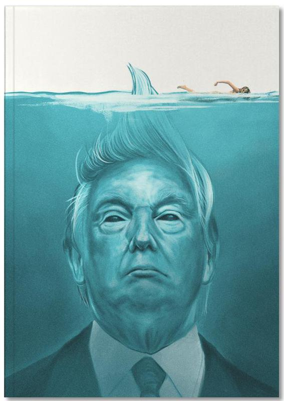 Personnages politiques, Humour, Films, Trump Flat Swimmer Notebook