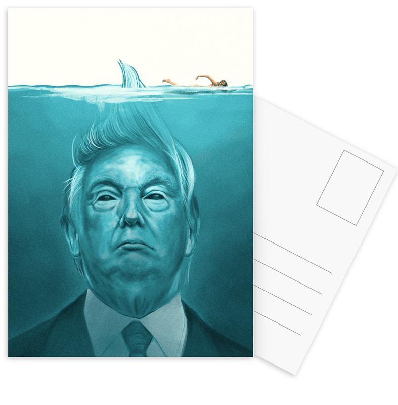Politieke figuren, Films, Grappig, Trump Flat Swimmer ansichtkaartenset