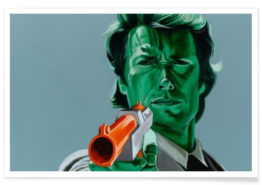 Clint Eastwood, Pop Art, Feel Lucky, Duck affiche