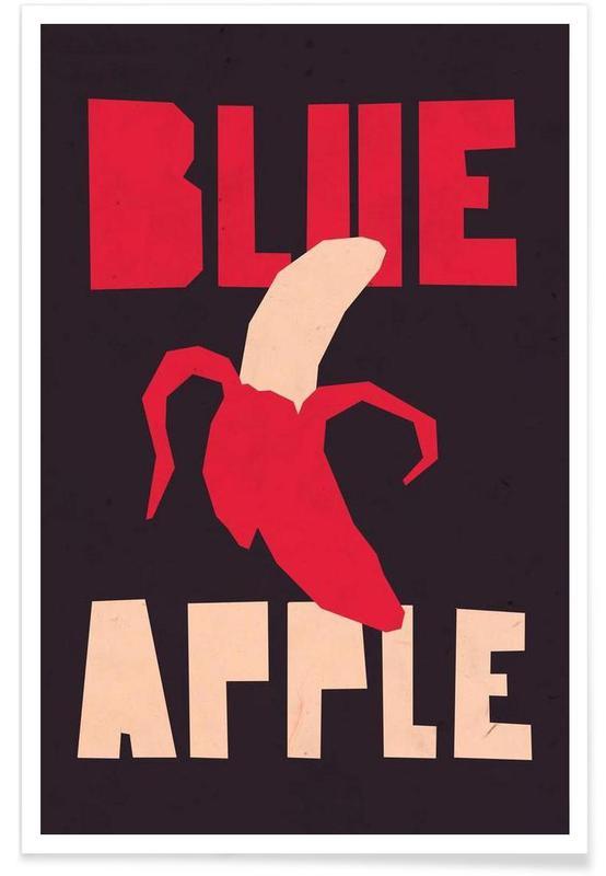 Bananes, Humour, Blue orange affiche