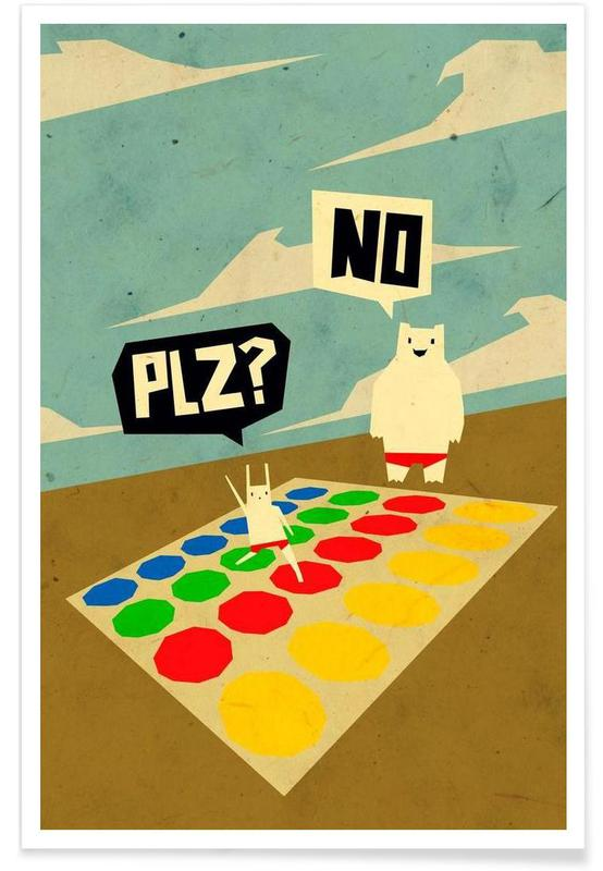 Yeti doesn't play Twister affiche