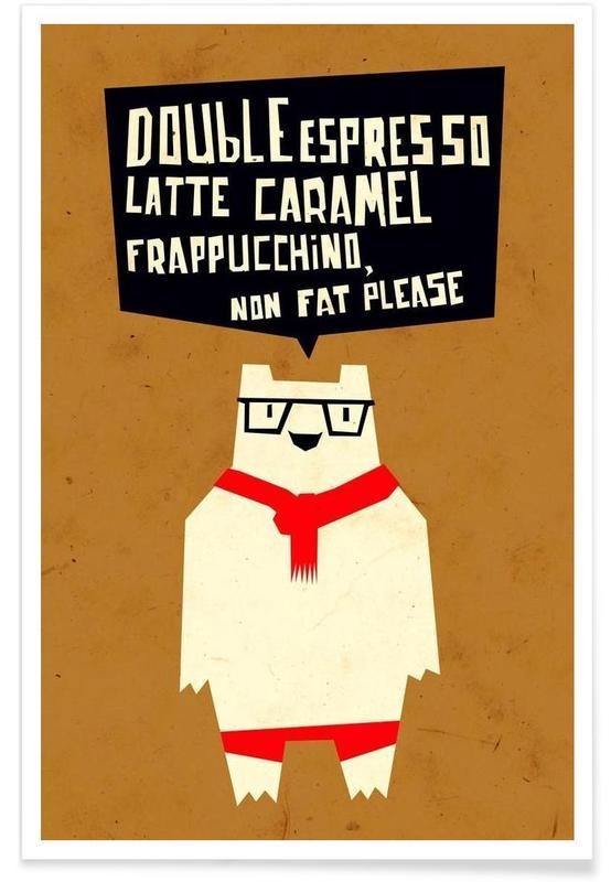 Citations et slogans, Yeti wants coffee affiche