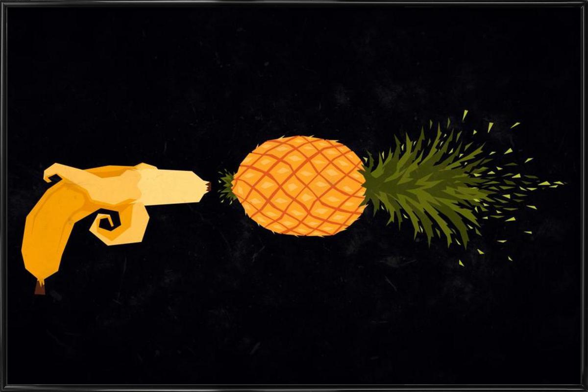 Who shot the pineapple Framed Poster