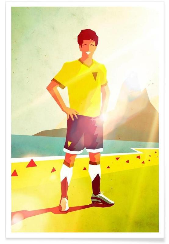 Football, Brasil 2014 affiche