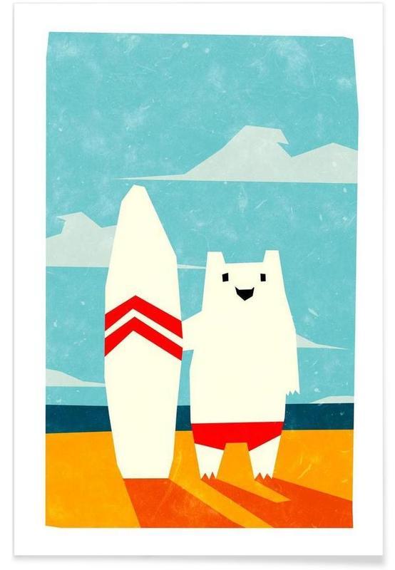Art pour enfants, Surf, Surf affiche