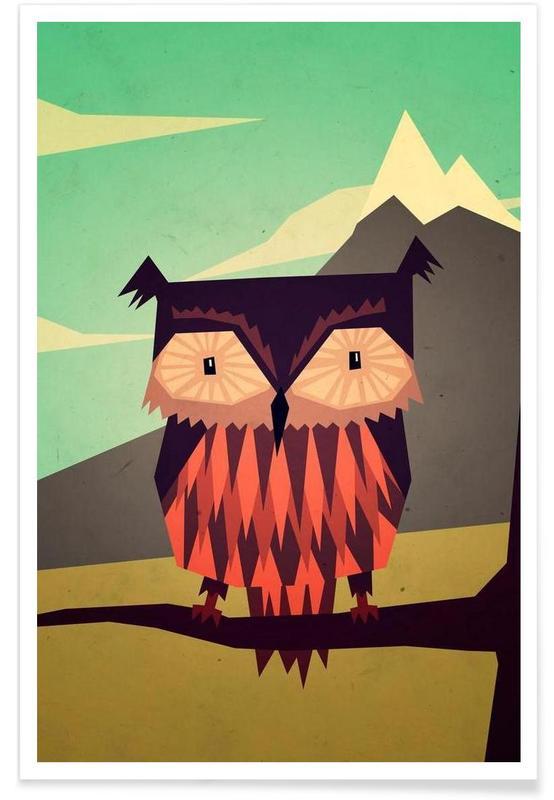 Owls, Critter Owl Poster